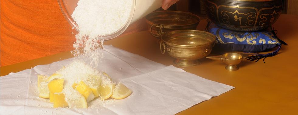 Frische Zitrone und Kokos für den Jambira Pinda Sveda Stempel